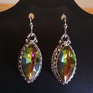 🆕 Tibetan silver mystic crystal earrings 🔹